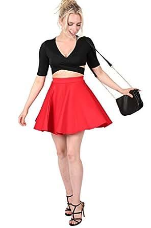 Pilot Ellie Scuba Skater Skirt in Red, 10