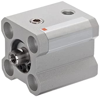 SMC NCQ2 Series Aluminum Air Cylinder, Compact, Double Acting, Both Ends Tapped Mounting, Not Switch Ready, No Cushion