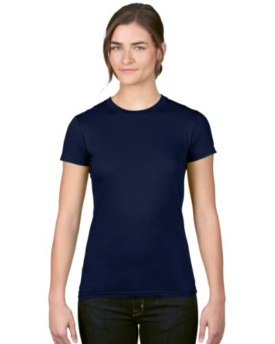 Anvil - T-shirt - Femme L/XL -  Bleu - Bleu marine - XL