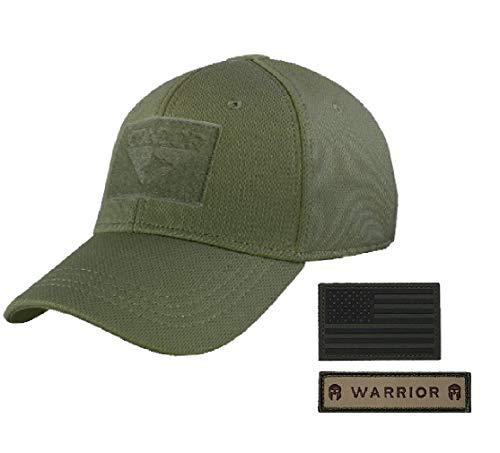 Condor Flex Tactical Cap (OD Green, S/M) + FREE Flag Patch