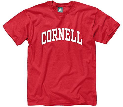 Ivysport Cornell University Short-Sleeve T-Shirt, Classic, Red, Large