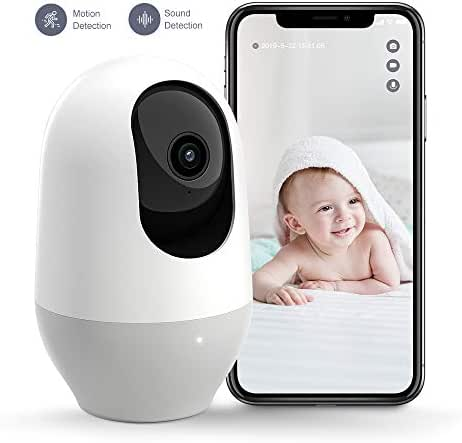 Nooie Baby Monitor, WiFi Camera, Pet Camera 1080P, 360-degree Wireless IP Camera, Home Security Camera, Motion Tracking, Super IR Night Vision, Two-Way Audio, Motion & Sound Detection