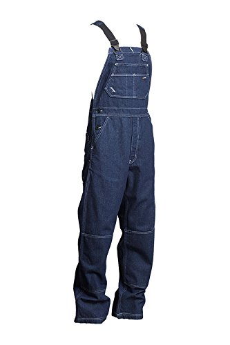 Lapco FR B13FRDN-5XL RG Flame Resistant Bib Overalls, 100% Cotton, HRC 2, NFPA 70E, 13 oz, 5X-Large Regular, Medium Denim Blue by Lapco FR (Image #3)