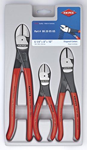 KNIPEX Tools LP 002005S2 Pliers Tool Set Diagonal Piano Wire Cutting Pliers