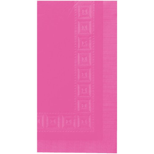 Bright Pink 3-Ply Paper Table Cover | 54