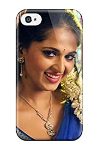 Iphone 4/4s Case Cover - Slim Fit Tpu Protector Shock Absorbent Case (indian Actress Anushka)