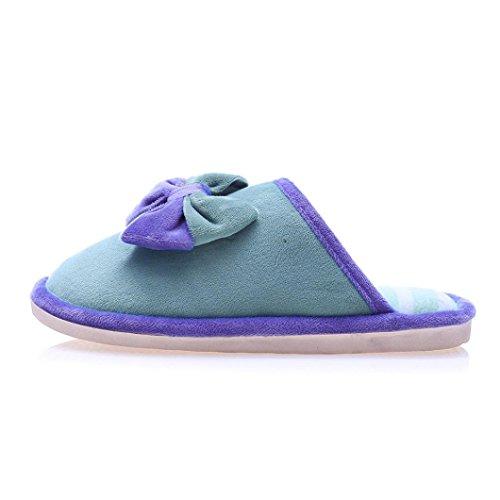 Femmes Pantoufle Plate, Inkach Filles Élégantes Tongs Faux Fourrure Floue Diapositive Glisser Sur Plat Sandale Pantoufle Chaussures Chaudes Vert