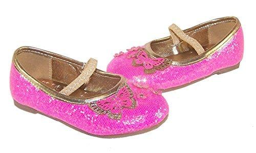 Mädchen rosa glitzer party schuhe für verkleidung und besondere anlässe
