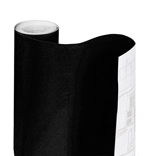 Smart Design Shelf Liner w/Solid Adhesive - Wipes Clean - Cutable & Removable Material - Easy Peel Design - for Shelves, Drawers, Flat Surfaces - Kitchen (18 Inch x 20 Feet) [Black] ()