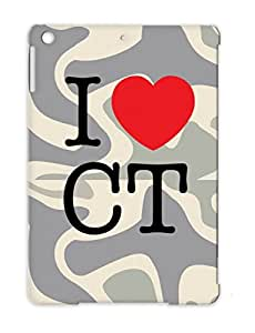 Dustproof States Cities Countries Love Heart Connecticut Hartford Stamford Red For Ipad Air I Love Connecticut T Shirt Cover Case