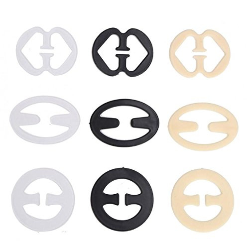 Cleavage Control Clip Bra Strap Clips For Womens Racer Back 9 pcs/set ()