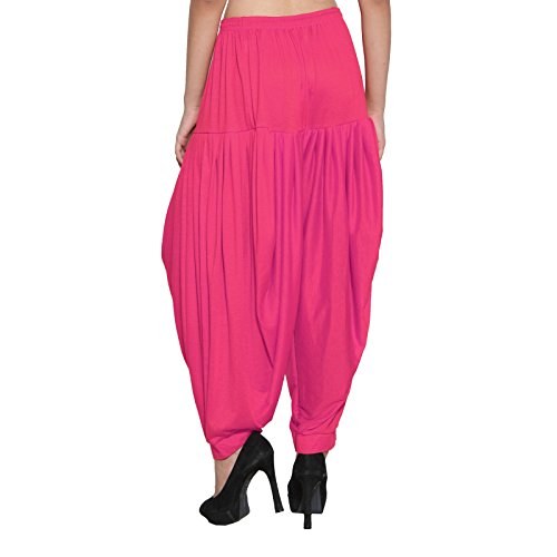 Punjabi Patiala Nuovo Dhoti libero lycra viscosa CRAFTSTRIBE Baggy Salwar Rosa Pantalone Formato pantaloni 5dwHc16q