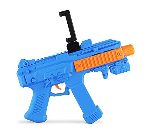 QTMY Bluetooth AR Game Gun for IOS Android Smart Phone(Blue) (Boys Game Video Shirt T Halo)