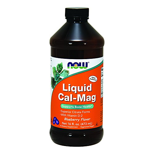 NOW Cal Mag Liquid Blueberry 16 Ounce
