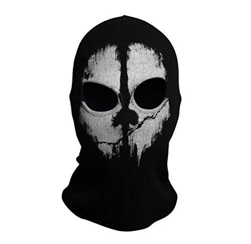 SzBlaZe Unisex Cotton Ghost Print Stocking Balaclava Mask Good for War Game Halloween Cosplay (Print 2) ()