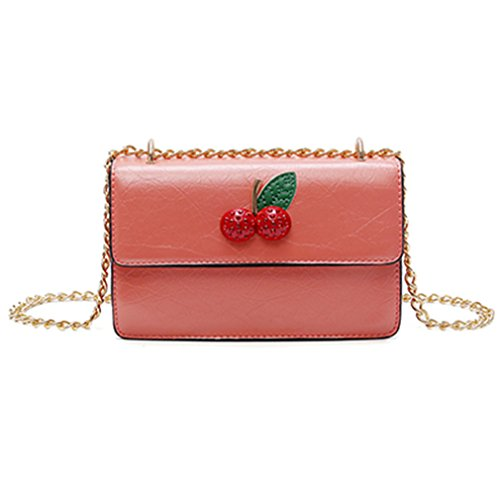 Youth Director Chair - Cherry Design Mini Beach Bag Summer Lady Leather Messenger Bag For Women pink