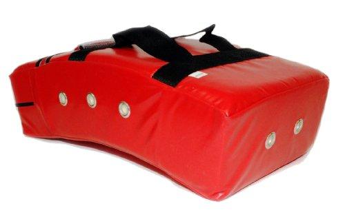 - Star Sports Karate Taekwondo Martial Arts Thai MMA M Size Curved Kicking Shield Pad Target (Red)