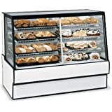 Federal Industries SGR5942DZ High Volume Vertical Dual Zone Bakery Case Refrigerated Left Non-Refrigerated Right
