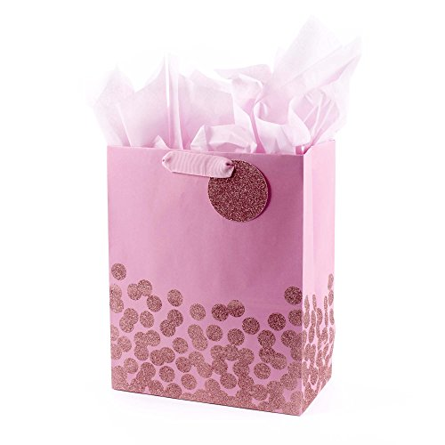 Hallmark Large Gift Bag with Tissue Paper (Pink Glitter Dots) for $<!--$5.99-->