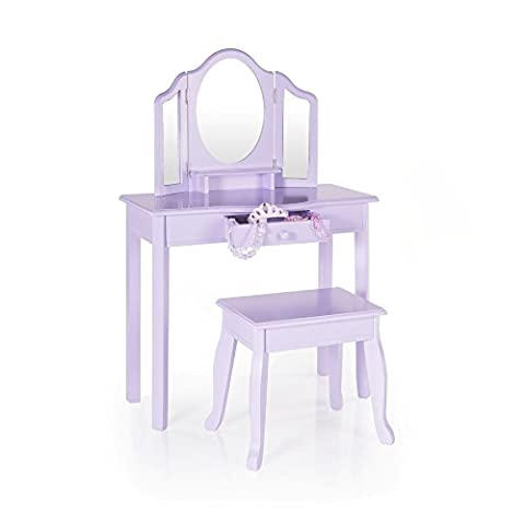 Guidecraft Vanity and Stool Children's Furniture - Lavender G87404