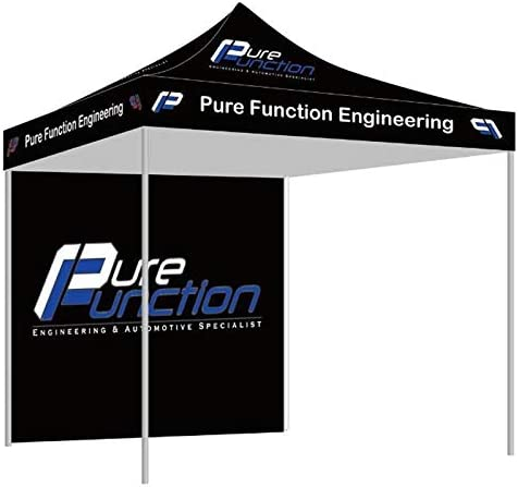 NaBai Canopy Pop Up Tent for Tradeshow 10 x 10 feet, Advertising Gazebos with Your Logo 10×10 top Canopy one Full Wall 13kgs Aluminum Alloy Frame