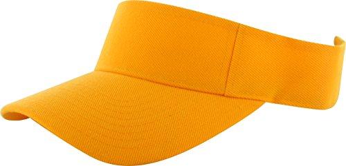 (DealStock Plain Men Women Sport Sun Visor One Size Adjustable Cap (29+ Colors) (Orange))