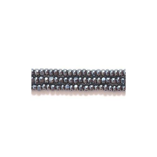 Preciosa Ornela Czech Seed Bead, True Cut Gunmetal, Size 11/0 Shipwreck Beads 11SB309-C