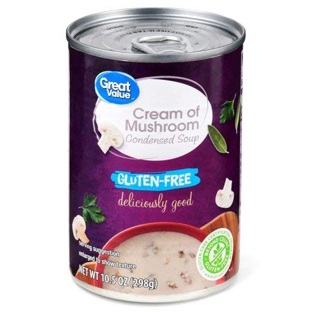 Pack Value Condensed (Great Value Cream Of Mushroom Condensed Soup, Gluten-Free, 10.5 oz (Pack of 2))