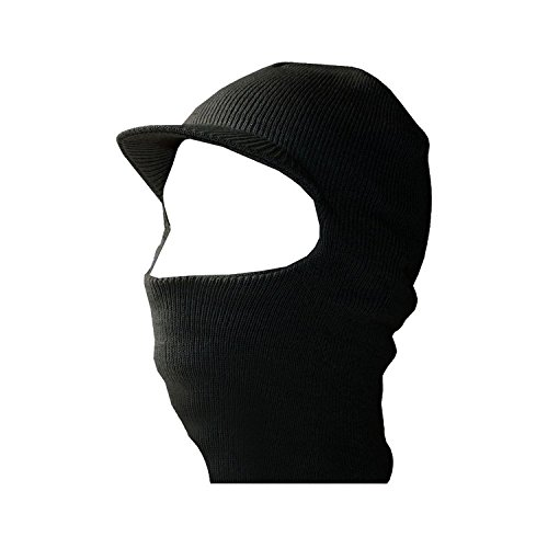 Face Ski Mask w/ Visor - Black