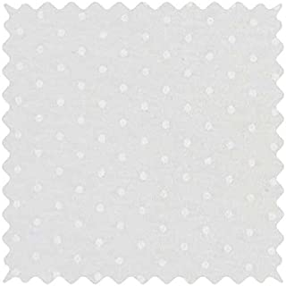product image for SheetWorld 100% Cotton Jersey Fabric by The Yard, White Swiss Dot, 36 x 60