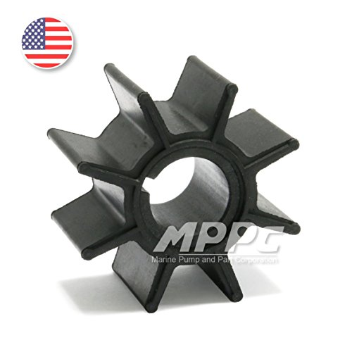 Nissan Tohatsu 9.9 hp 15hp 18hp 20hp Outboard Motor Parts Water Pump Impeller Replacement 18-8921 for OEM #334-65021-0 (Impeller Outboard Replacement)