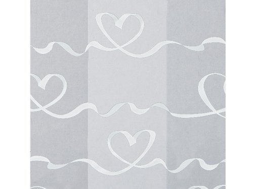 Cello Satin Hearts White Small - Pack of ()