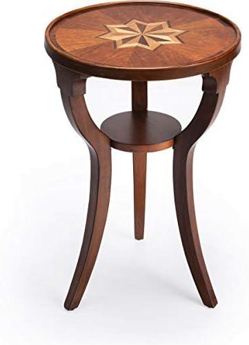 BUTLER DALTON OLIVE ASH BURL ROUND ACCENT TABLE