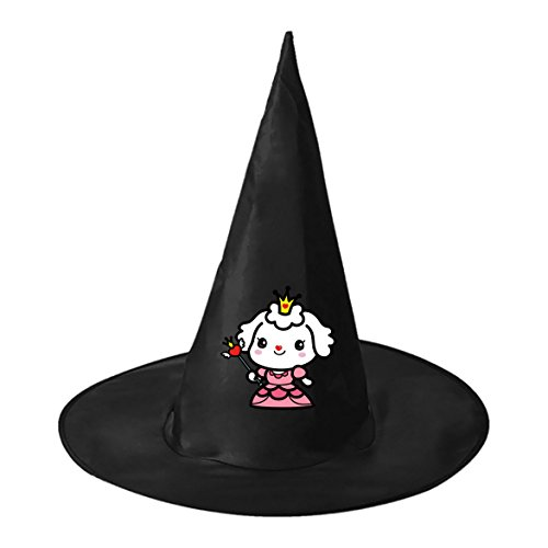 Sheep Queen Dress Conical Cosplay Witch Hat Toy to Halloween Costume Ball for Unisex Kids Adults