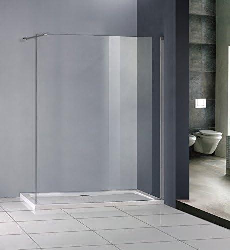700 x 1000 mm Altura mampara de ducha de piedra de cristal bandeja mojada limpieza fácil: Amazon.es: Hogar