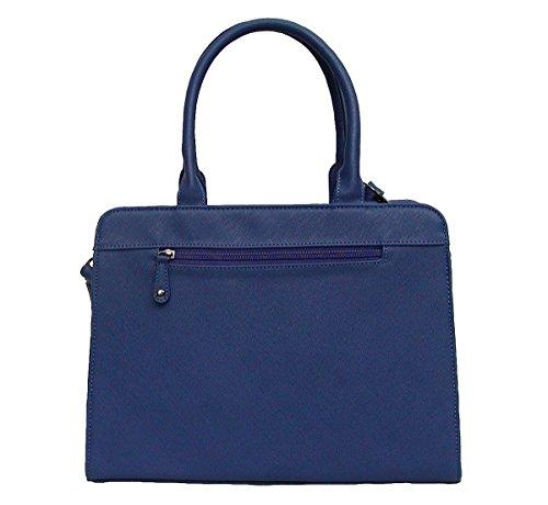 Angel kiss AK5990 blue modische Tasche Kelly Bag Style, Shopper, 3 Hauptfächer, langer Trageriemen, 34x27x13 cm