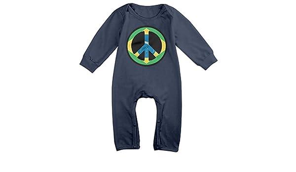Mri-le1 Baby Boy Girl Long Sleeved Coveralls Brazil Flag Toddler Jumpsuit