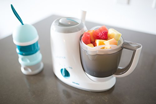 BEABA Babycook Original 4 in 1 Steam Cooker and Blender, 3.5 cups, Dishwasher Safe, Peacock by Beaba (Image #4)
