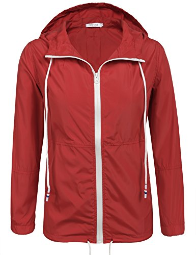 Meaneor Waterproof Raincoat Outdoor Windbreaker