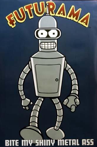 Futurama Poster Bender Bite My Shiny Metal