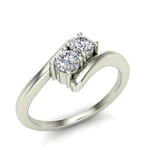 042-ct-tw-Two-Stone-Diamond-Engagement-Ring-14K-Gold-II1-Popular-Quality