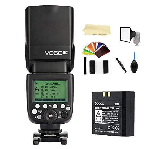 Godox V860II-C E-TTL 2.4G High Speed Sync 1/8000s GN60 Li-ion Battery Camera Flash Speedlite Light Compatible Canon 1DX 5D Mark III 5D Mark II 6D 7D 60D 50D 40D 30D 650D 600D 550D 500D 450D 400D