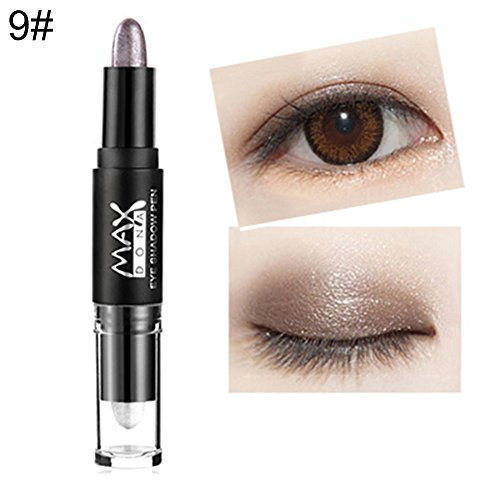 Kekailu Eyeshadow Makeup Eye Shimmer Pencils Double-end Stick Face Brighten Contour Nude - 9#