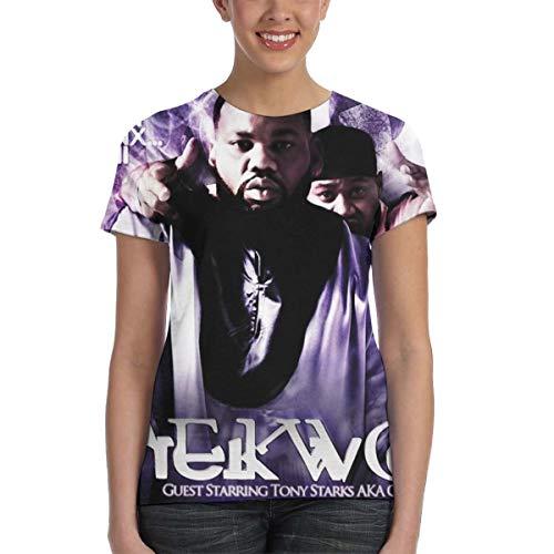 Jamie Sinclair Raekwon Only Built 4 Cuban Linx Women Short Sleeve Round Neck Tees Black XXL