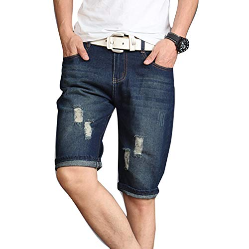 Shorts Tasche Uomo Lunghi Skinny Plus Moda Abbigliamento Di Jeans In Pants 1 Con Festivo Casual Size Estate Da Pantaloncini Denim Stretch nxX6twn