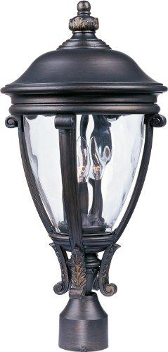 Vx Light Camden 3 - Maxim Lighting 41421WGGO Camden VX Outdoor Pole/Post Mount Lantern, GoldenBronzeFinish,11by23-Inch