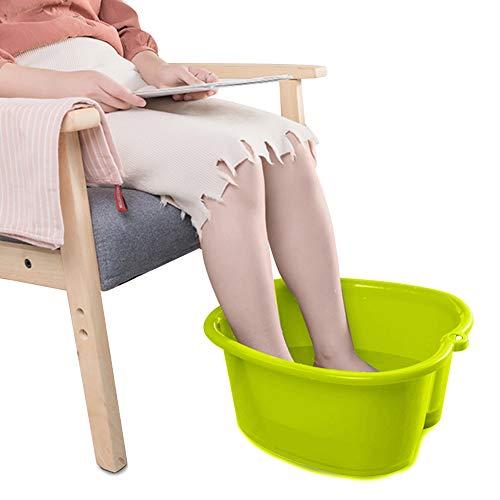 Foot Soaking Bath Basin, Water Spa and Foot Massage, Sturdy Plastic Foot Basin for Soaking Foot,Toe Nails, and Ankles,Pedicure,Portable Foot Tub Green