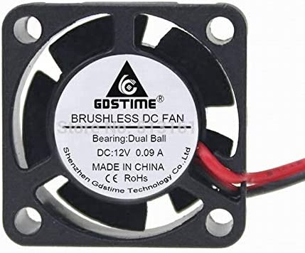 Gdstime 12V Ball Bearing Small Micro Blushless DC Cooling Fan 25mm 25x25x10mm 2510