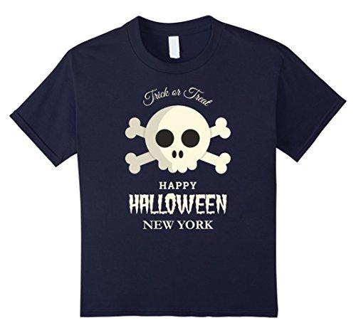 Kids New York Trick or Treat Happy Halloween Party T Shirt 12 (Best Halloween Costumes New York City)