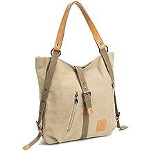 Women Shoulder Bag, Fashion Backpack, Multifunctional Canvas Handbag, Casual Rucksack